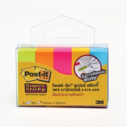 POST-IT 670-5AN PAGE MARKER 5-NEON